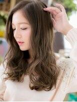 *COVER HAIR*グラデーションカラーのくせ毛風エアリーロングa