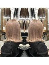 デザイン フォー ヘアー グランツ プロデュース バイ ヒス(Design for hair GRAnt'z)ハイトーンミルクティーカラー