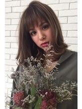 ヘアーリゾート粋透け前髪/フェアリーモカミディアム