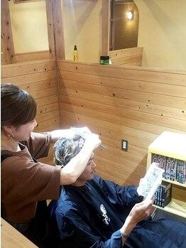 オッジ ヘアー ジャッロ(Oggi Hair giallo)の写真/男性専用個室あり☆通えるサロンをお探しの方におすすめ!おしゃれパーマからすっきりスタイルまで提案◎