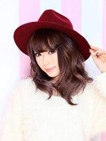 エクステ市場 渋谷本店 カラーランド【カラー+即感Tr】くびれミディ+モーブカラーで愛されヘア♪