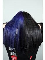 青紫×黒ツートン