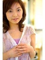 美容室 アンビー 新高円寺(envie)お手入れ簡単、ゆる巻きスタイル。