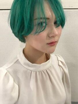 ヘアーメイクデザインパフ(HairMakeDesign Paf)ミントグリーンショート