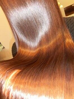ペシェ (Peche)の写真/M3D使用☆カラー×トリートメント同時施術で、髪のハリ・コシUP♪艶たっぷりの若々しい美艶カラーを実現◎
