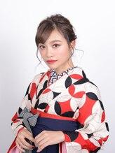 アース 水沢店(HAIR&MAKE EARTH)☆着物ヘア☆モダンなゆる編みお団子スタイル