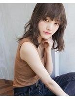 アンジェリカ ハラジュク(Angelica harajuku)【Angelica 白石研太】 グレージュカラーシースルーバングボブ