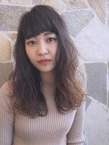 シェル(SHEL)前髪パッツンロング