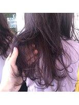 ヘアーエスクール 本店(hair S.COEUR)[ ワンカラーでできる、ピンクパープルカラー ]