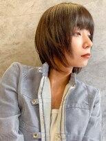 エイチスタンド 渋谷(H.STAND)大人かわいい/小顔/髪質改善/スリークマッシュボブ[Shuri]