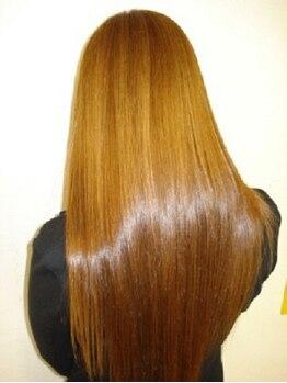 ヘアメイク ケシキ(Hair make Keshiki)の写真/『まっすぐすぎるストレートは嫌!』そんなあなたも大満足な自然でまとまりのある柔らか仕上げ♪