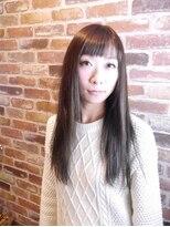 ヘアメイク オブジェ(hair make objet)落ち着いたアッシュ系カラー