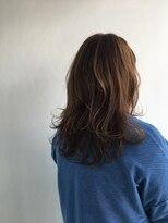 ヘアメイク オブジェ(hair make objet)ゆるふわパープルブラウン