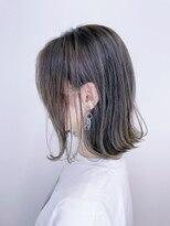 マックスビューティーギンザ(MAXBEAUTY GINZA) 【バレイヤージュ】セミウェット切りっぱなし ミディ☆髪質改善