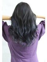 【Blanc/梅田】グラデーションカラー/ブルーグレー/黒髪