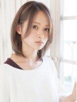 リビングユー(Livingu you)パープルアッシュカラー前髪長めクラシカルレイヤーノーブルロブ