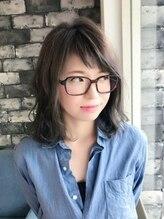 ヘアデザインクラフト(hair design CRAFT)☆ベビーバング×グレージュの透明感ミディ☆