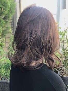 リュール(leur)の写真/【leurこだわりの薬剤】お客様の髪質やダメージを見極め、貴女だけのカラーでスタイルが決まる♪