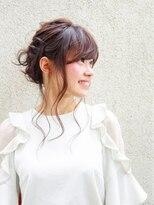 オーブ ヘアー ハラジュク 原宿店(AUBE HAIR harajuku)【外国人風】ゆるふわまとめアレンジスタイル☆