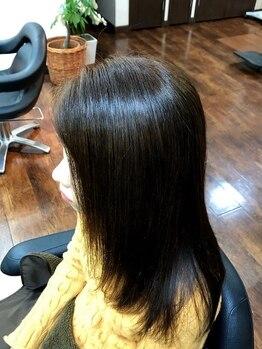 ラグヘアーデザイン(RAG hair design)の写真/【酸性ストレートパーマ+トリートメント¥18000】ダメージレスに手に入れる大人のサラ艶ストレート♪