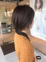 ヘアメイク シュシュ(Hair make chou chou)カーキアッシュのミニマムボブ【chou-chou 北林夏実】