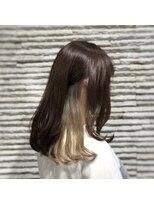 ビス ヘア アンド ビューティー 西新井店(Vis Hair&Beauty)10代20代インナーカラー×スモーキーベージュ♪