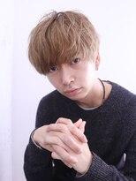 アルバム シンジュク(ALBUM SHINJUKU)マッシュウルフ七三オールバックツイストパーマ_76707