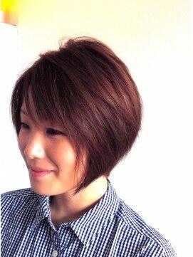 ヘアーカーブ(haircarve)haircarve夏サキドリ・クールピンクブラ・ダイヤ☆ボブ
