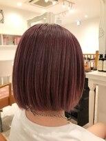 ヘアーサロン リアン 熊谷2号店(hair salon Rien)ベリーピンク×ボブ