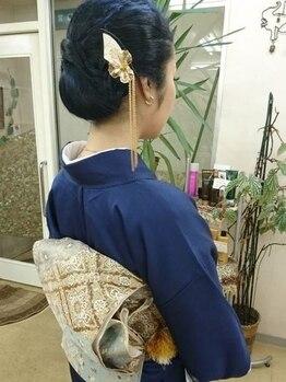 """まり美容室の写真/【特別な日の着付け&ヘアセットは""""まり美容室""""】着物/訪問着/袴/振袖/浴衣どれもご対応します◎"""