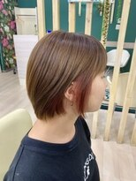 ハーフバックス 多摩境店(HAIR STUDIO HALF BACKS×1/2)インナーピンクカラー