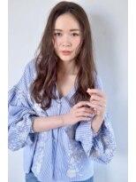 ボヌール 西梅田店(Bonheur)【女性stylist杉崎】ベージュアッシュカラーで柔らかオトナ色