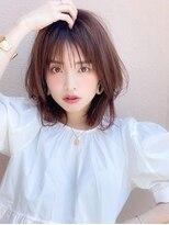 アグ ヘアー リノ 大名店(Agu hair reno)《Agu hair》シースルーの透け感×涼しげミディ