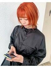 ルームヘアー(ROOM HAIR)ウルフカット orange color