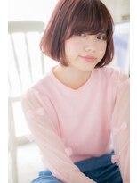 *CUORE水戸*…髪色にポイント☆シンプルボブ#デザインカラー