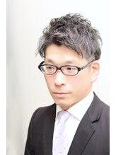 銀座マツナガ 箱崎店(GINZA MATSUNAGA)30代40代50代◎ツーブロックパーマスーツスタイル