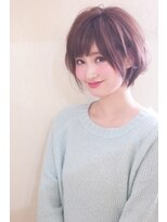 小顔ショートひし形【パーソナルカラーワンサイドタンバルモリ】