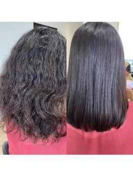 髪創の写真/癖毛さんを救う【美髪シルクストレート】柔らかいさ&美髪が手に入る!