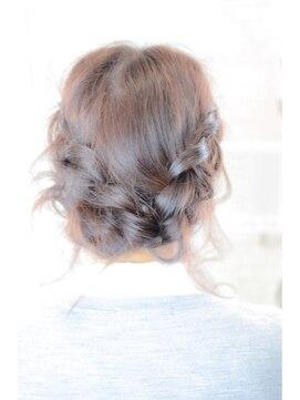 結婚式 髪型 編み込みヘアアレンジ お姫様アレンジ