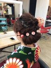 ヘアーセレクション ピーエムエー(HAIRSELECTION P. M. A)和装に似合うヘアセット