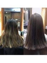カルフール オハナ せんげん台西口店(Carrefour OHANA)カラー+カット+トリートメントで美髪・髪質改善