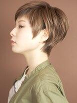 ベックヘアサロン 広尾店(BEKKU hair salon)大人可愛いワイドバングショート!モーブカラー