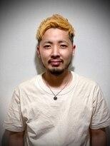 ツーブロハイフェード【フェード×金髪】Nakano