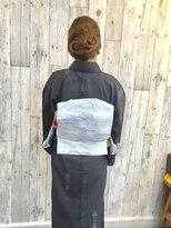 ヘアースペース ムーン(Hair Space MOON)夏着物の着付けとヘアセットは岡山表町のヘアースペースムーンへ
