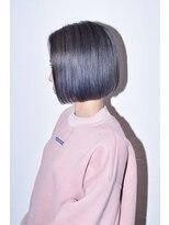 ヘアサロン エフ(HairSalon F)【HairsalonF】ブルーグレーカラー×ミニボブ