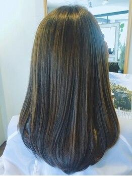 ヘアーエン(HAIR en)の写真/ノンアルカリの髪質改善ストレート!肌と同じ酸性の薬剤でケアしながら髪を美しく伸ばせる♪[津田沼]