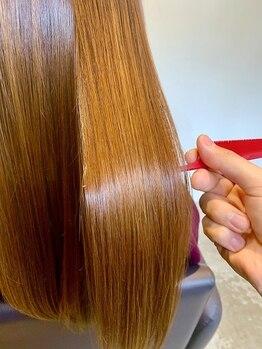 マフ 五反田店(MuFF)の写真/話題の【髪質改善トリートメント】今まで効果が出なかった髪質もドライヤーだけで感動のまとまりを実感♪