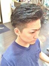 オムヘアーツー (HOMME HAIR 2)#アップバング・ワイルドリバースパーマ・Hommehair2nd櫻井真紀