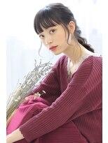 ヘアリゾート バレンタイン(hair+resort valentine)☆ハロウィンヘアアレンジ☆大人かわいい 暗髪ルーズアレンジ