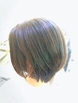 [ラベンダーアッシュ3D]×[ショートボブ]